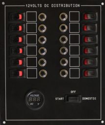 12 WAY STANDARD PANEL WITH VOLTMETER